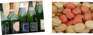 Champagne and Macaron